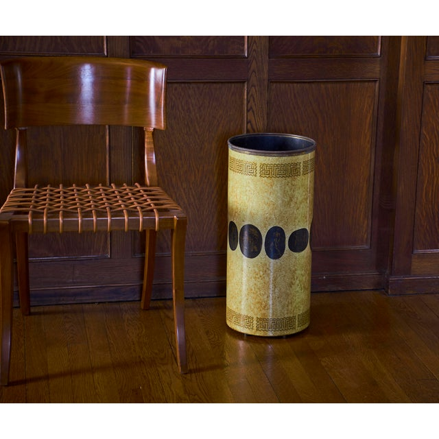 Art Deco Klismos Chair by T H Robsjohn Gibbings Widdicomb With Original Leather Seat For Sale - Image 3 of 6