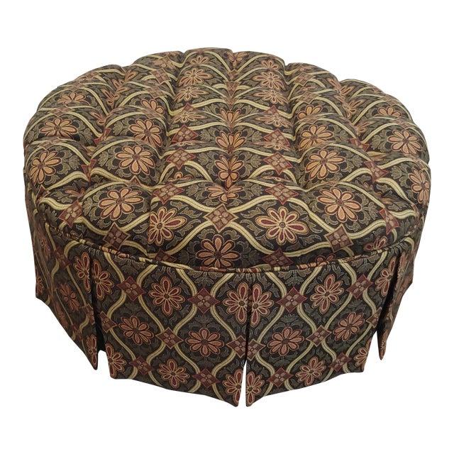Excellent 1990S Vintage Round Tufted Ottoman Beatyapartments Chair Design Images Beatyapartmentscom