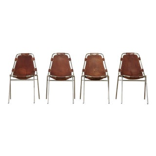 1970s Vintage Charlotte Perriand for Les Arcs Chairs- Set of 4 For Sale