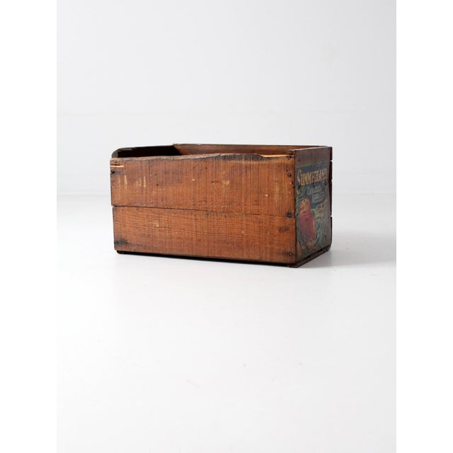 Vintage Apple Crate Wood Box - Image 5 of 7