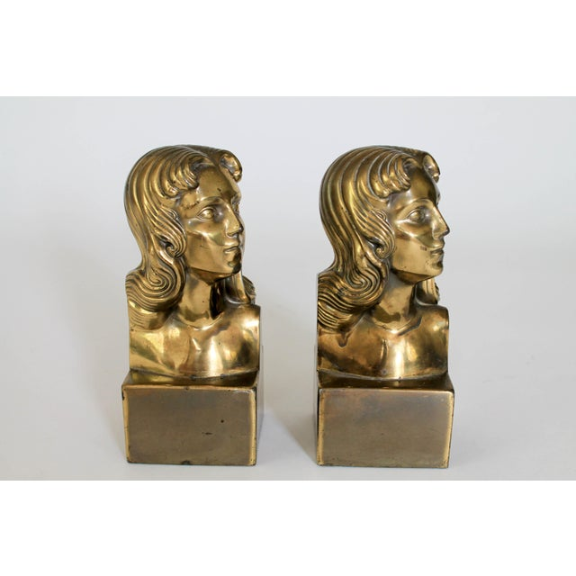 Female Brass Bookends For Sale In Milwaukee - Image 6 of 11