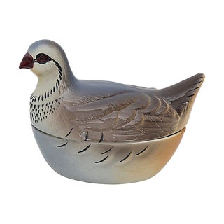 French Majolica Partridge Pâté Tureen For Sale