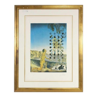 1960s Vintage Salvador Dali Signed Lithograph Print For Sale