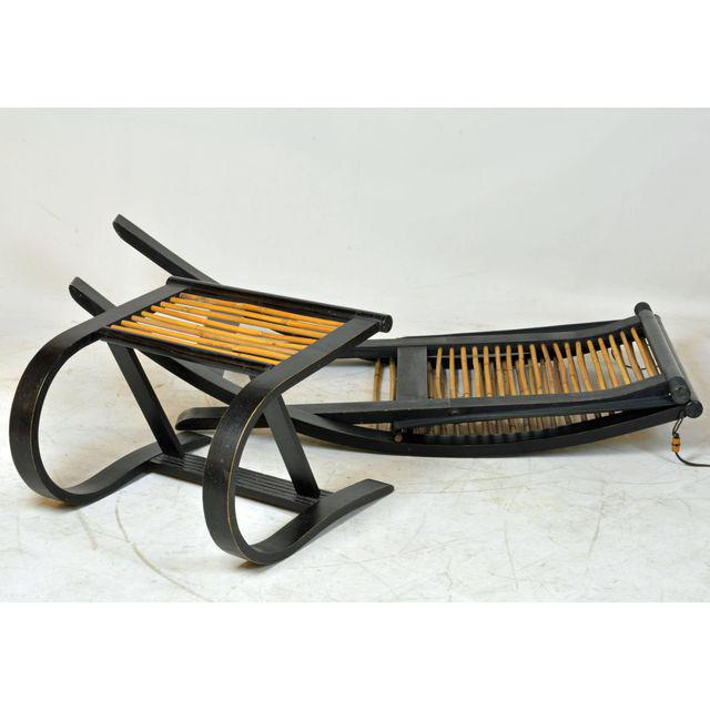 Late 20th Century David Colwell C1 Reclining Lounge Chair and Foot Stool For Sale - Image 5 of 11