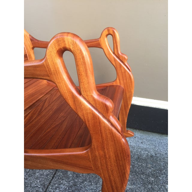 Solid Cherry Wood Rocking Chair For Sale - Image 7 of 11