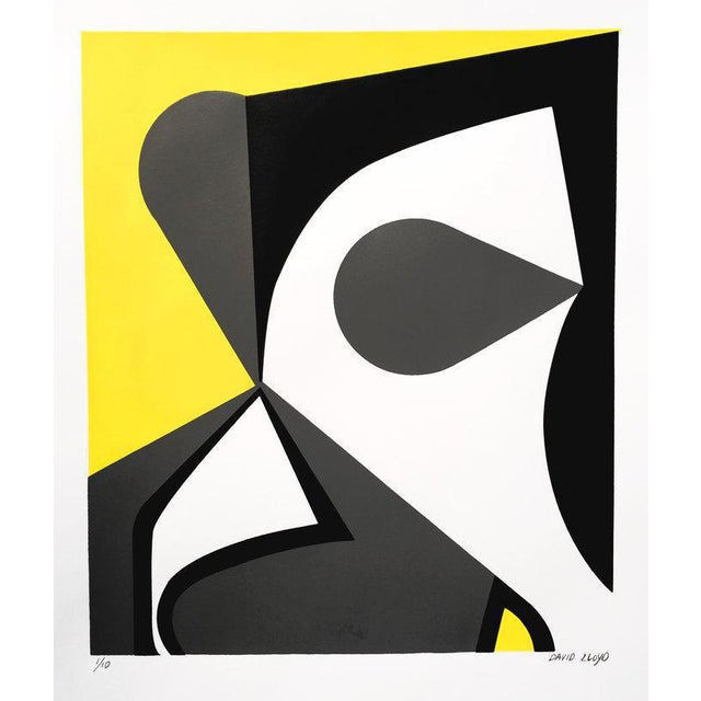 "David Lloyd ""Abstraction #1"" Silkscreen - Image 1 of 3"