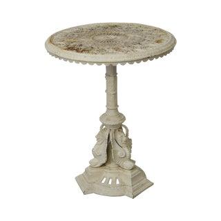 Antique Victorian Cast Iron Round Garden Table For Sale