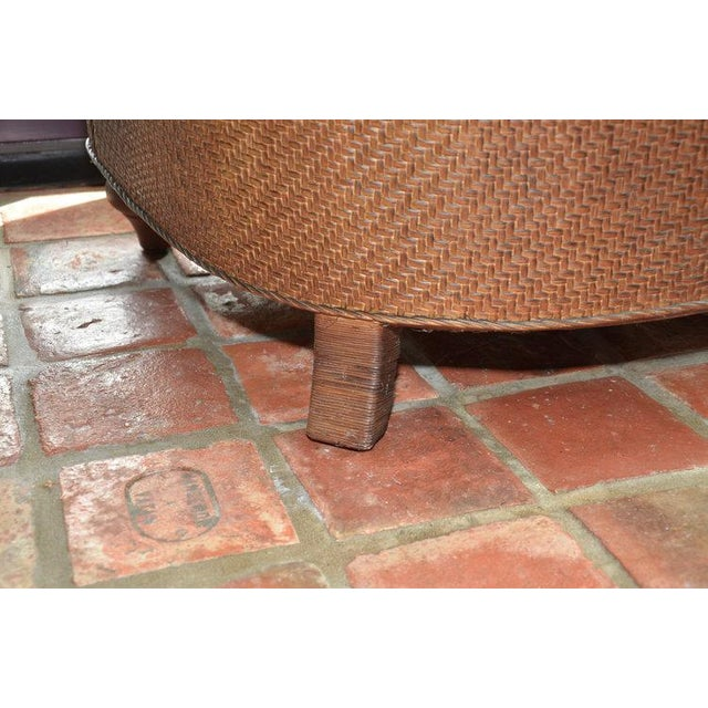 Hickory Chair Company Rattan Club Chair - Image 7 of 8
