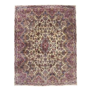 Antique Persian Kerman Rug, 12'01 X 15'11 For Sale