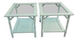 Image of Robin's Egg Blue Side Tables