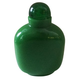 Peking Glass Emerald green Snuff Bottle