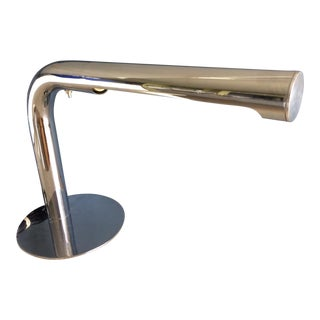Robert Sonneman Chrome Desk Lamp - Circa 1970s For Sale