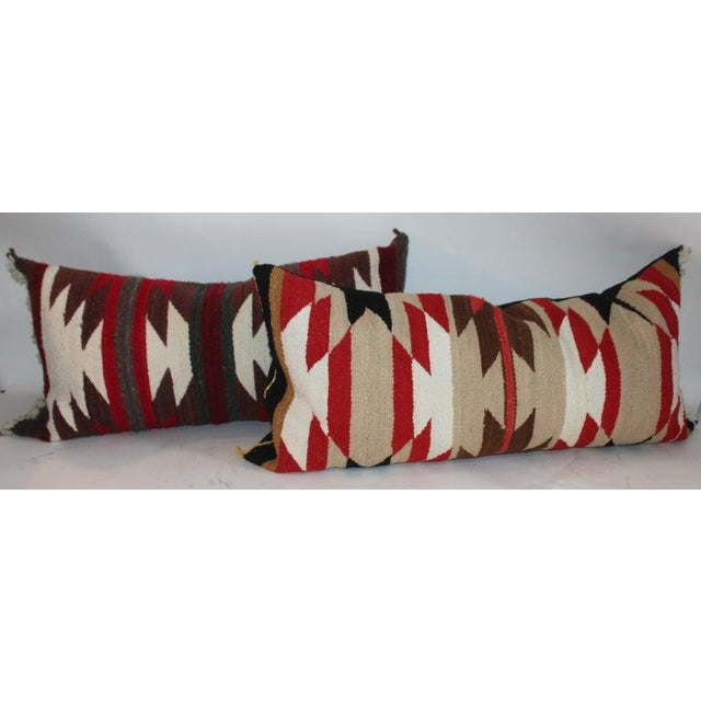 These three Navajo saddle blanket weaving pillows are in great condition and are sold as a collection of three. Sold...