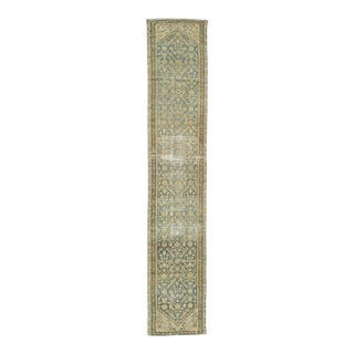 Antique Distressed Persian Malayer Runner - 2′10″ × 15′9″