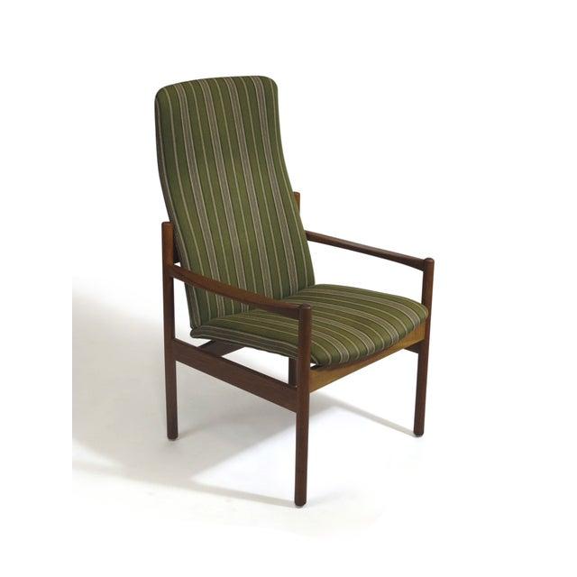 Mid-Century Danish Teak High-Back Lounge Chair - Image 8 of 9