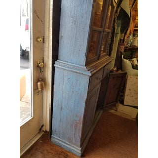 1920s French Blue Cupboard With Glass Doors Preview