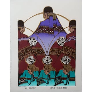 Amado Maurilio Pena Limited Edition Signed Serigraph El Taller Ano Seis 1986 For Sale