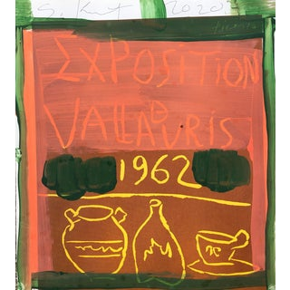 '1962' Framed Picasso Poster Painting by Sean Kratzert For Sale