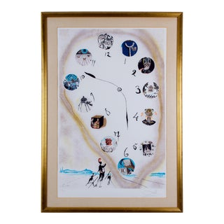 """1973 """"Time and Space"""" Lithograph Print by Salvador Dali For Sale"""