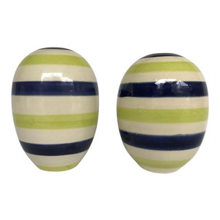 Early Jonathan Adler Couture Striped Bud Vases 1990s - a Pair For Sale