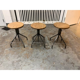 Rejuvenation Industrial Adjustable Stools- Set of Three Preview