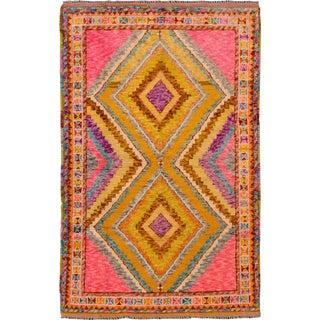 """Apadana - Modern Afghan Gabbeh Rug, 3'5"""" x 5'5"""""""