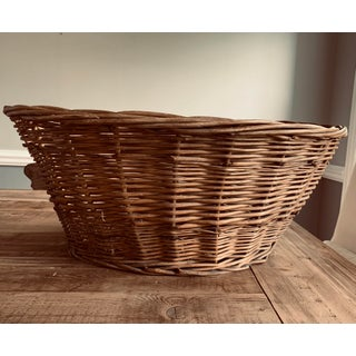 20th Century Rustic Shabby Chic Pillow Basket Preview