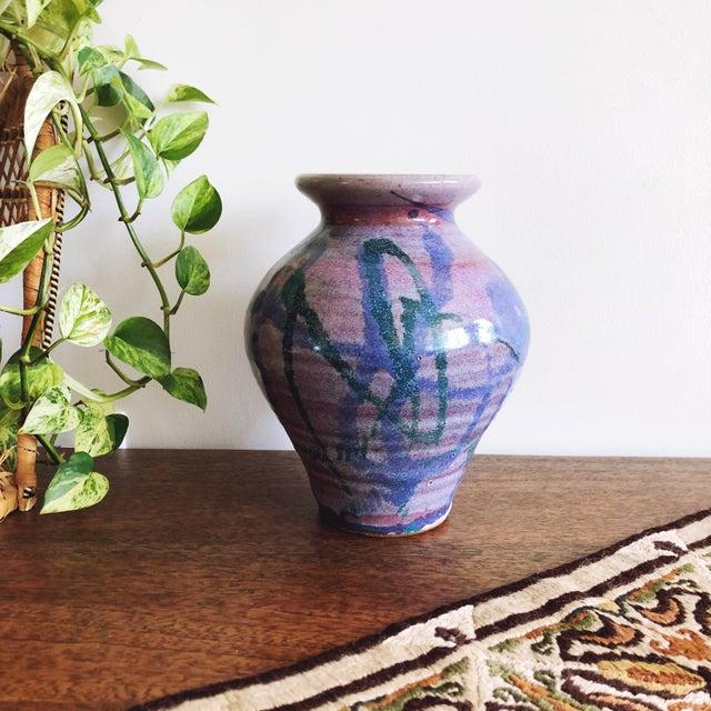 Vintage Studio Art Ceramic Vase For Sale In Austin - Image 6 of 6
