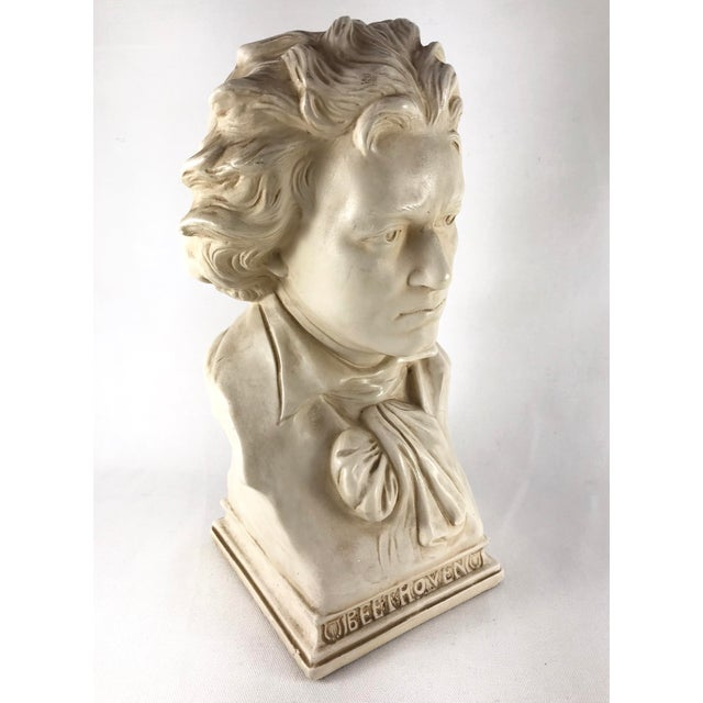 20th Century Contemporary Alexander Backer Co Ivory Colored Beethoven Bust For Sale - Image 11 of 11