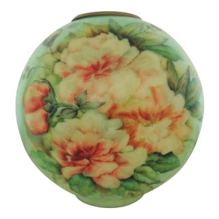 Antique Floral Ball Globe Lamp Shade for Oil or Kerosene Banquet Gone With the Wind For Sale