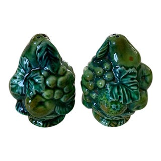 1960's Inarco Green Fruit Salt and Pepper Shakers - Set of 2 For Sale