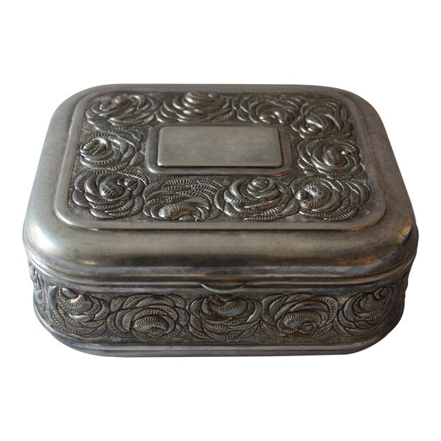 Vintage Silverplate Jewelry Box - Image 1 of 4