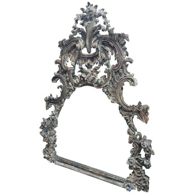 Large and Impressive Antique Italian Carved Frame in the Baroque Style For Sale - Image 12 of 12