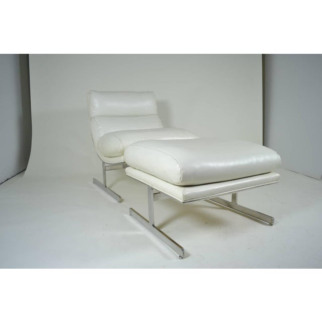 Modern Lounge Chair and Ottoman by Kipp Stewart for Directional, circa 1970 - Image 4 of 10