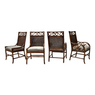 Bloomingdales Faux Bamboo Dining Chair Set For Sale