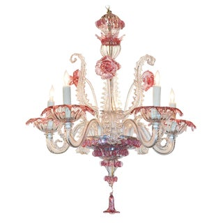 Early 20th C. Venetian Glass Chandelier