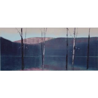"Stephen Pentak ""5.1"" Dark Purple Landscape Trees Painting on Paper For Sale"
