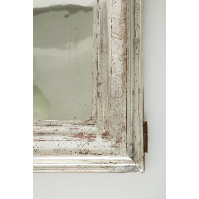 French Louis Philippe Silvered Mirror For Sale - Image 3 of 9