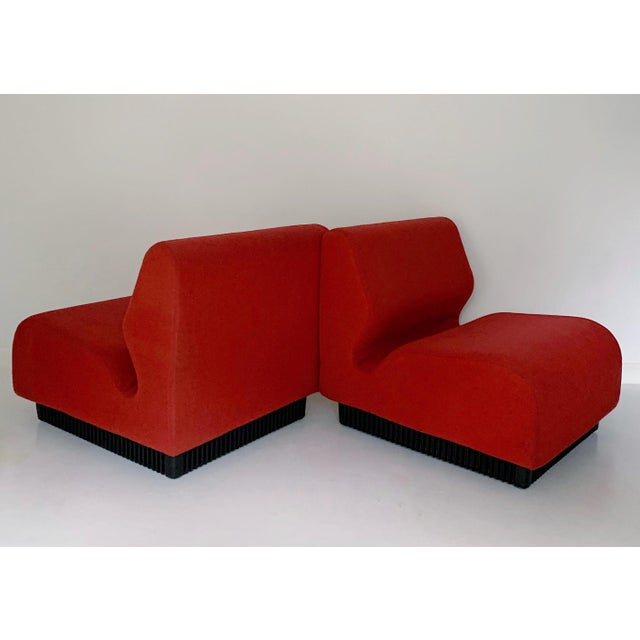Herman Miller 1970's Vintage Don Chadwick for Herman Miller Modular Lounge Chairs - a Pair For Sale - Image 4 of 7