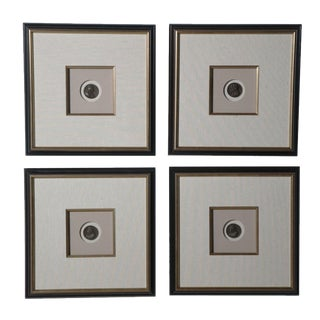 Set of Eight Framed Bronze Coins of Roman Emperors, Stamped & Dated For Sale