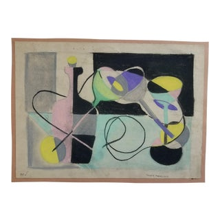1940s Vintage Trudy Nadelson Abstract Still Life Painting For Sale