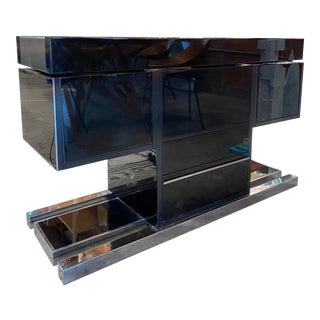 1970s Mid-Century Modern Italian Dry Bar by Willy Rizzo For Sale