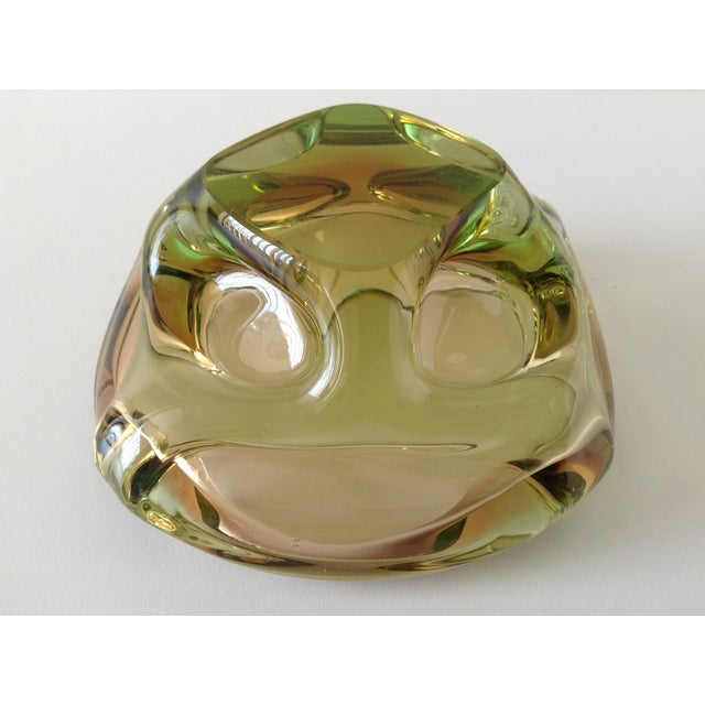 Segues Green & Taupe Italian Murano Bowl - Image 9 of 9