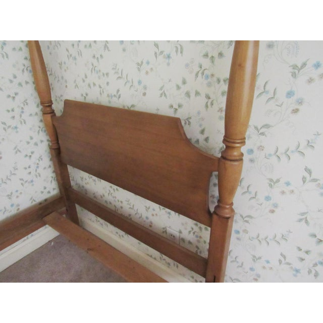 Mid 20th Century Solid Maple Pennsylvania House Mock Canopy Twin Beds - a Pair For Sale - Image 5 of 9