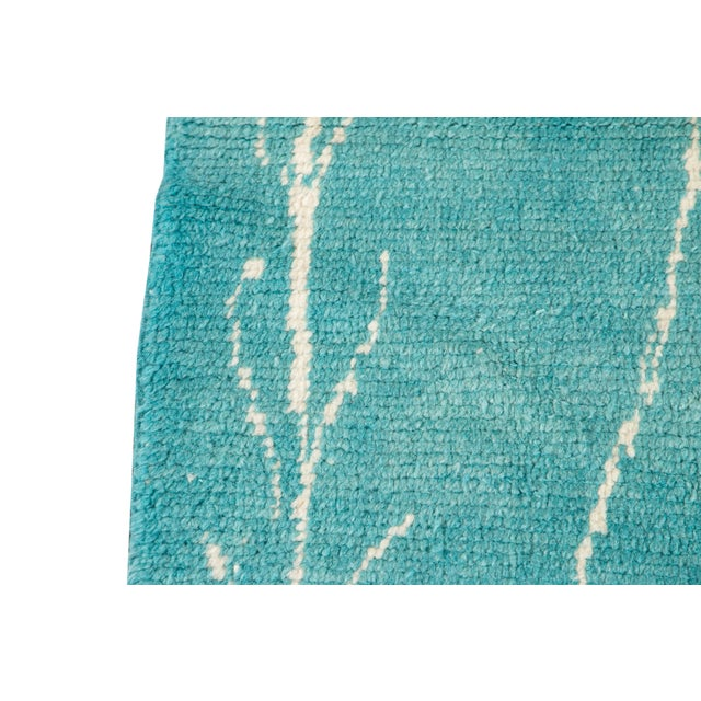 2010s 21st Century Modern Moroccan Style Wool Runner For Sale - Image 5 of 9