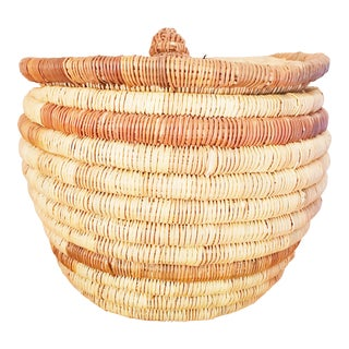 Boho Chic Handmade Basket With Lid