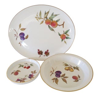 Royal Worcester Evesham Serving Dishes - Set of 3 For Sale