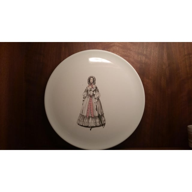Here's a lovely decorative plate from the Gone With the Wind era of the late 1930s to 40s. The fashionable woman decal on...
