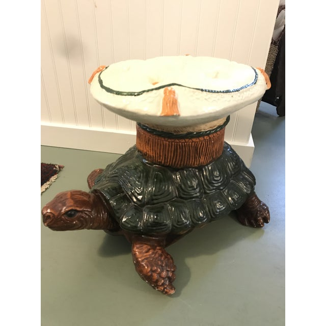 Vintage Turtle Garden Seat Stool For Sale - Image 9 of 10