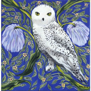 """Snowy Owl"" Original Artwork by Naomi Jones For Sale"